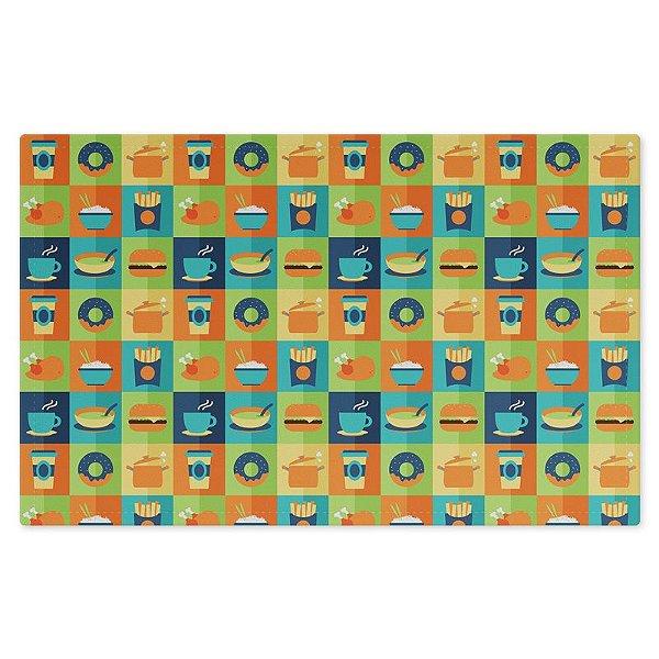 Jogo Americano (Kit 4 Unidades) Nerderia e Lojaria comidas 02 colorido