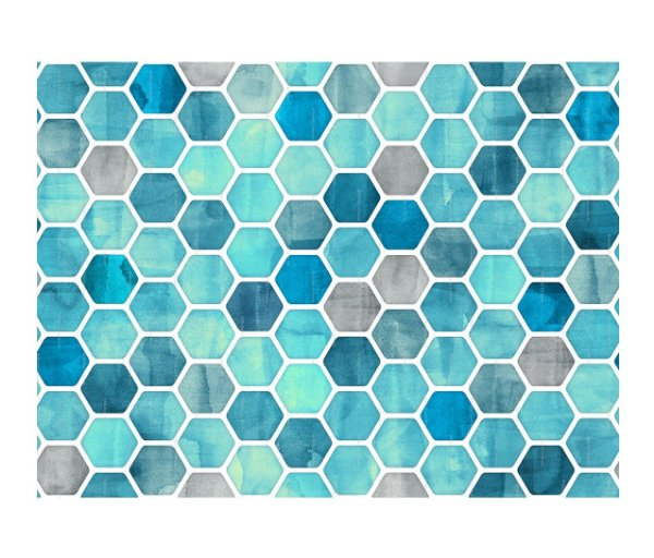 Jogo Americano (Kit 4 Unidades) Nerderia e Lojaria geometrico azul colorido