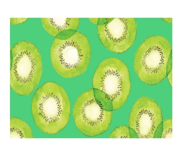Jogo Americano (Kit 4 Unidades) Nerderia e Lojaria kiwi claro colorido