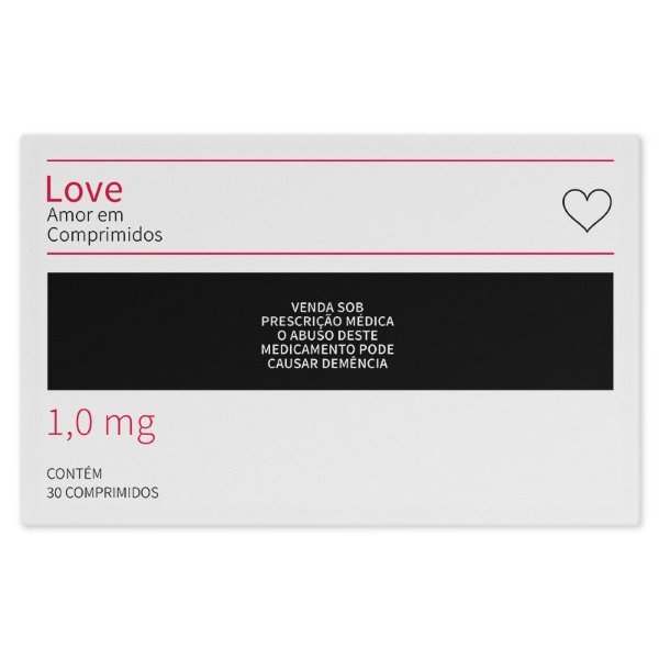 Jogo Americano (Kit 4 Unidades) Nerderia e Lojaria love em comprimidos colorido