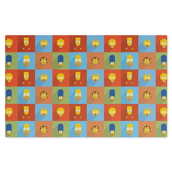 Jogo Americano (Kit 4 Unidades) Nerderia e Lojaria simpsons minimalista colorido