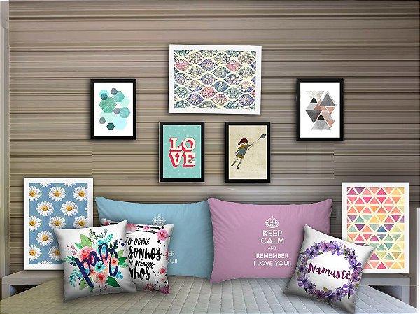 Combo Ambiente decorativo para quartos Nerderia e Lojaria quart3 colorido