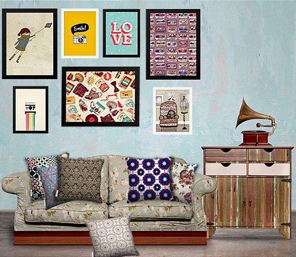 Combo Ambiente Decorativo Tematica Retro Nerderia e Lojaria retro3 colorido