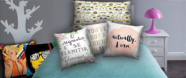 Combo Ambiente Decorativo Quarto Teen Feminino Nerderia e Lojaria teenf2 colorido