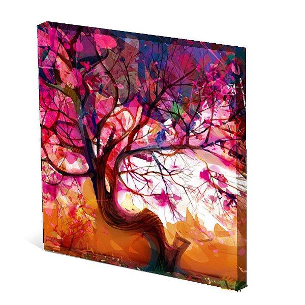 Tela Canvas 30X30 cm Nerderia e Lojaria cajus colorido