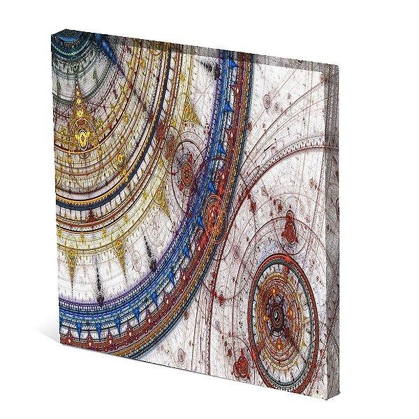 Tela Canvas 30X30 cm Nerderia e Lojaria carta nautica colorido
