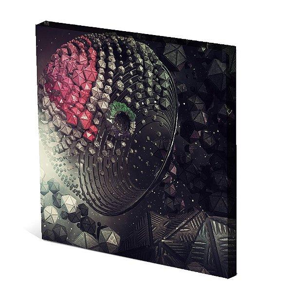 Tela Canvas 30X30 cm Nerderia e Lojaria espaço surreal colorido