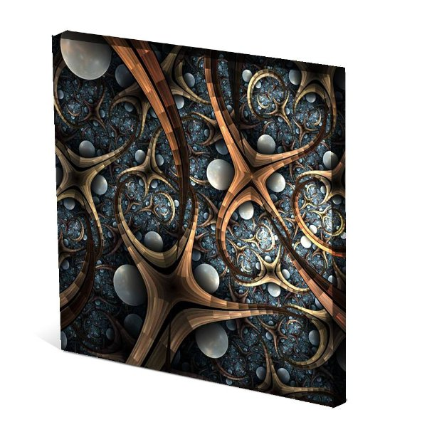 Tela Canvas 30X30 cm Nerderia e Lojaria estrelas colorido