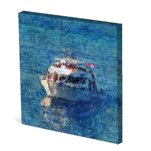 Tela Canvas 30X30 cm Nerderia e Lojaria iate paint colorido