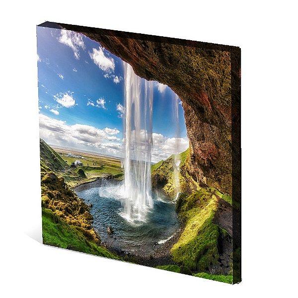 Tela Canvas 30X30 cm Nerderia e Lojaria paisagem1 colorido