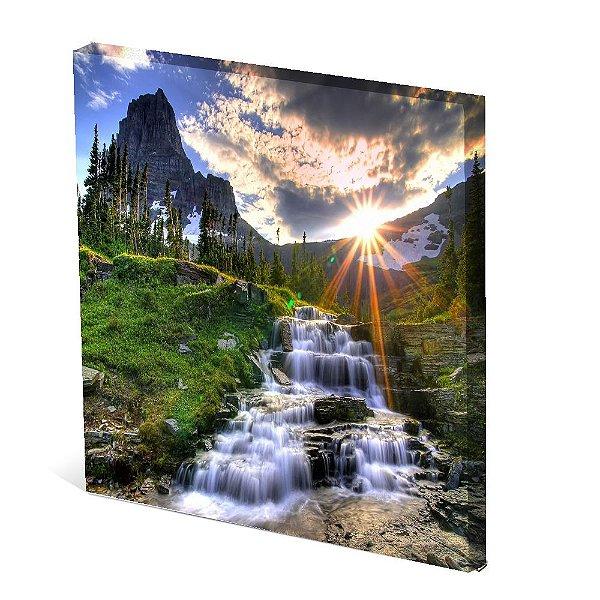 Tela Canvas 30X30 cm Nerderia e Lojaria paisagem2 colorido