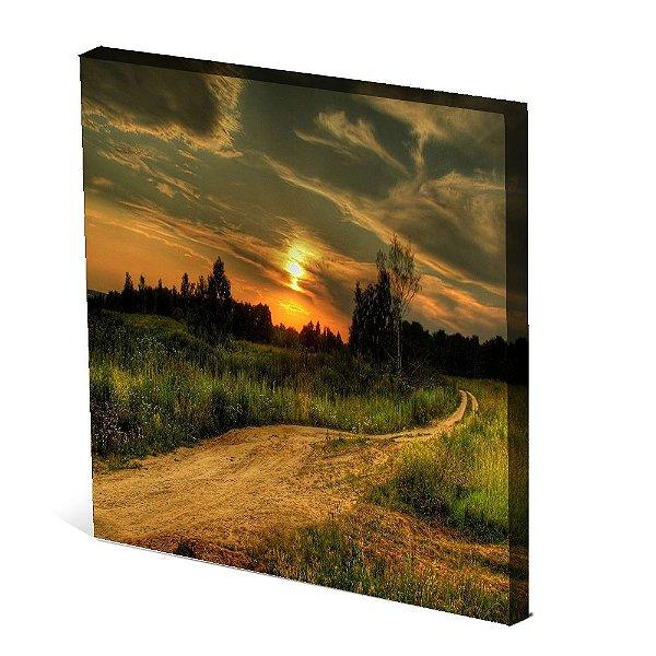 Tela Canvas 30X30 cm Nerderia e Lojaria paisagem4 colorido