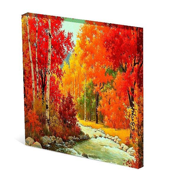 Tela Canvas 30X30 cm Nerderia e Lojaria paisagem5 colorido