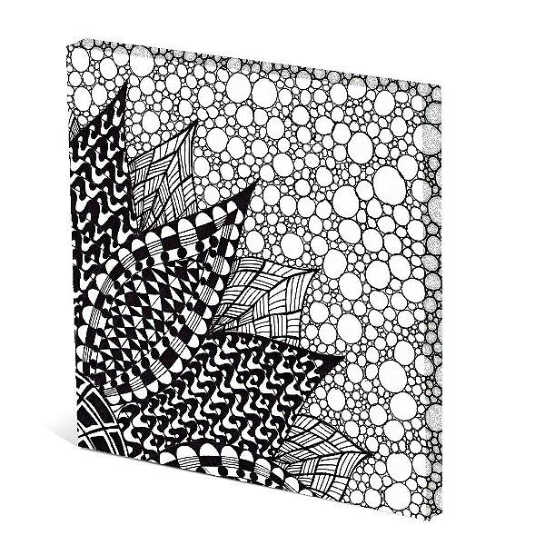 Tela Canvas 30X30 cm Nerderia e Lojaria petala PB colorido