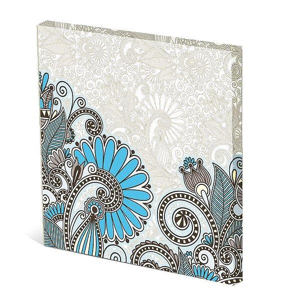 Tela Canvas 30X30 cm Nerderia e Lojaria petalas blue surreal colorido