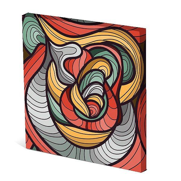 Tela Canvas 30X30 cm Nerderia e Lojaria surreal colors colorido