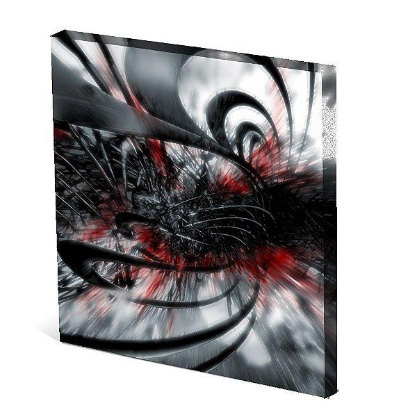 Tela Canvas 30X30 cm Nerderia e Lojaria surreal gray colorido
