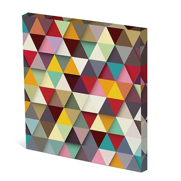 Tela Canvas 30X30 cm Nerderia e Lojaria triangles colorido