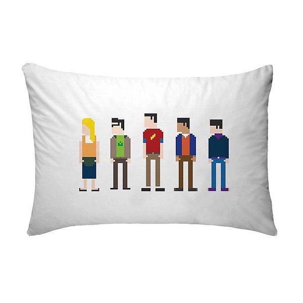 Fronha Para Travesseiros Nerderia e Lojaria big bang theory 8 bits colorido