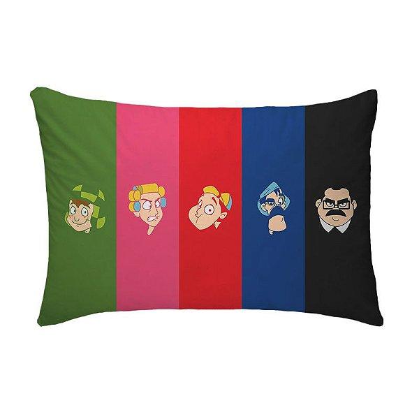 Fronha Para Travesseiros Nerderia e Lojaria chaves cartoon colorido