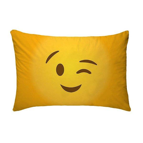 Fronha Para Travesseiros Nerderia e Lojaria emoticon whatsapp piscando colorido