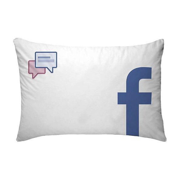 Fronha Para Travesseiros Nerderia e Lojaria facebook branco colorido