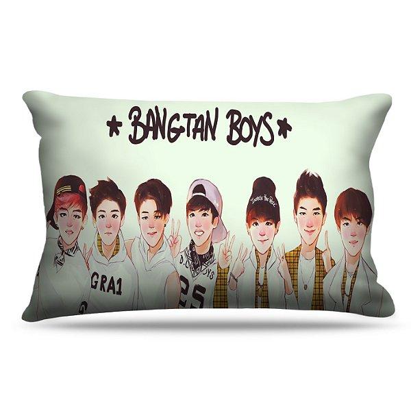 Fronha Para Travesseiros Nerderia e Lojaria KPOP BTS BANGTAN BOYS colorido