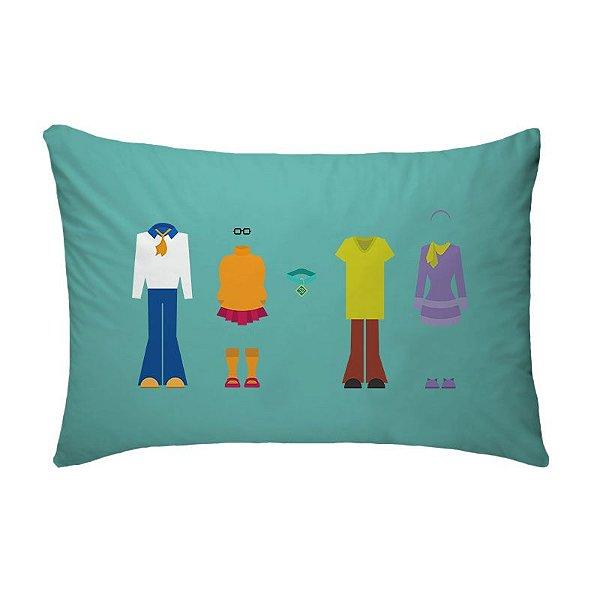 Fronha Para Travesseiros Nerderia e Lojaria scoobdoo colorido