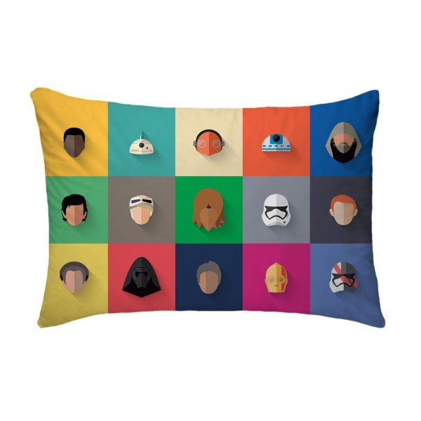Fronha Para Travesseiros Nerderia e Lojaria star wars minimalista colorido
