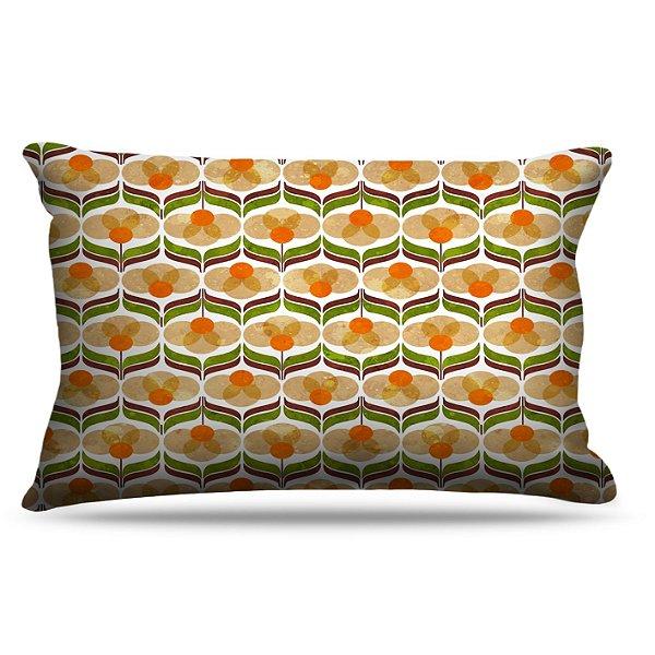 Fronha Para Travesseiros Nerderia e Lojaria vintage laranja colorido