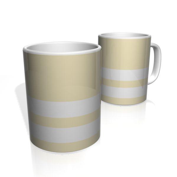 Caneca De Porcelana Nerderia e Lojaria amarelo duas faixas colorido