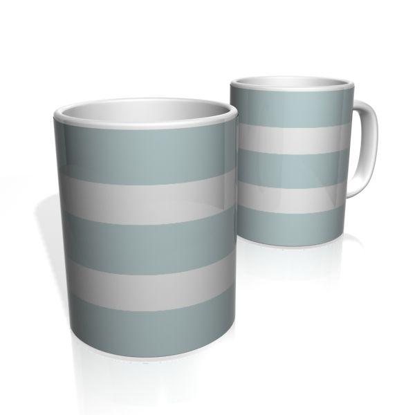 Caneca De Porcelana Nerderia e Lojaria cinza duas faixas 2 colorido