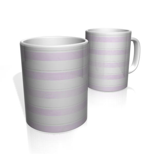Caneca De Porcelana Nerderia e Lojaria faixas lilas colorido