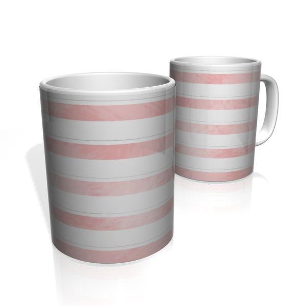 Caneca De Porcelana Nerderia e Lojaria faixas rosa escuro colorido