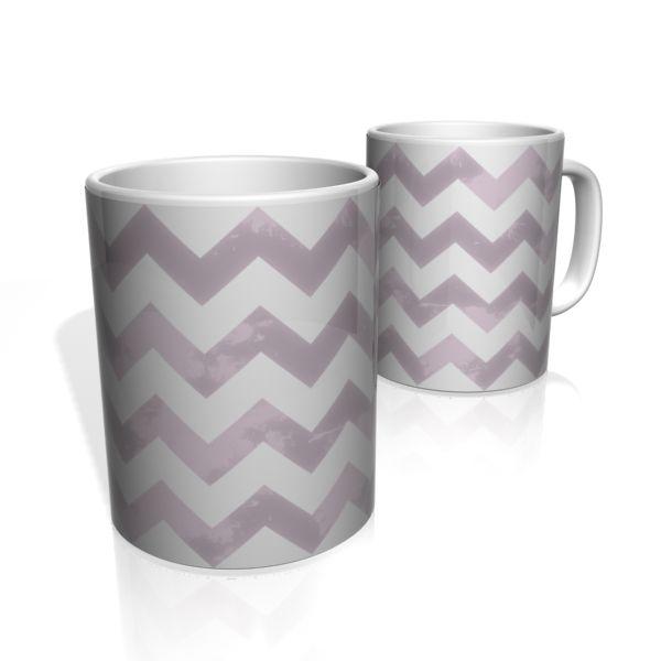 Caneca De Porcelana Nerderia e Lojaria linha zigzag roxo colorido
