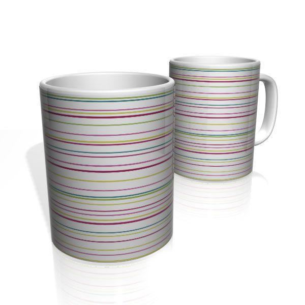 Caneca De Porcelana Nerderia e Lojaria linhas multi color colorido