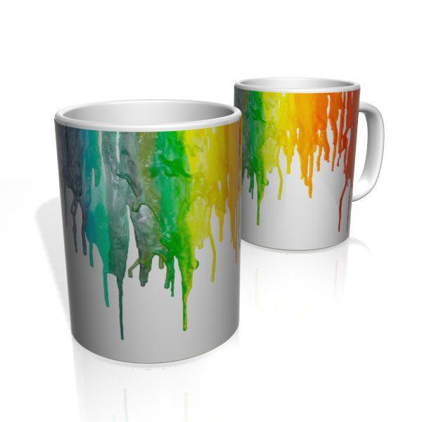 Caneca De Porcelana Nerderia e Lojaria paint colors colorido