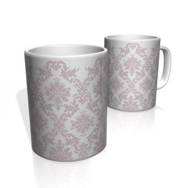 Caneca De Porcelana Nerderia e Lojaria petalas rosa old colorido
