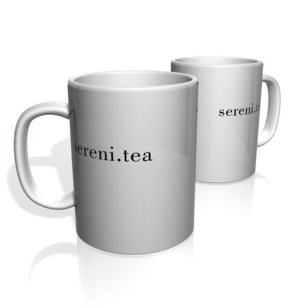 Caneca De Porcelana Nerderia e Lojaria sereni.tea colorido
