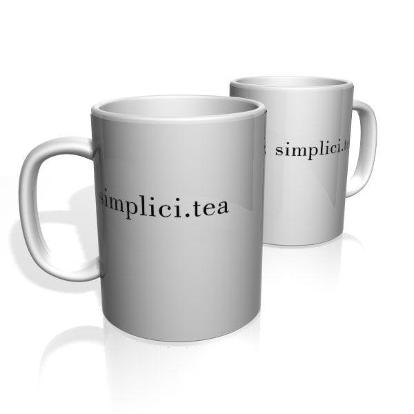 Caneca De Porcelana Nerderia e Lojaria simplici.tea colorido