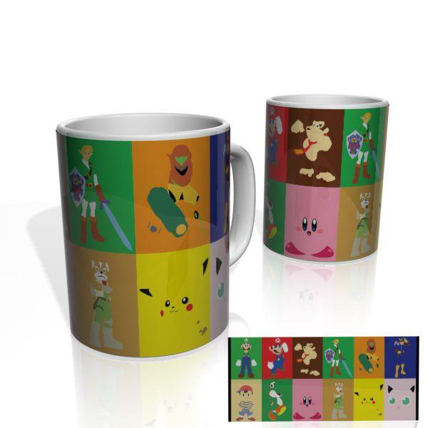 Caneca decorativa Nerderia e Lojaria games colorido