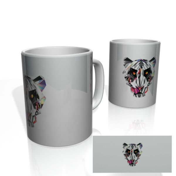 Caneca decorativa Nerderia e Lojaria geometric tiger2 colorido
