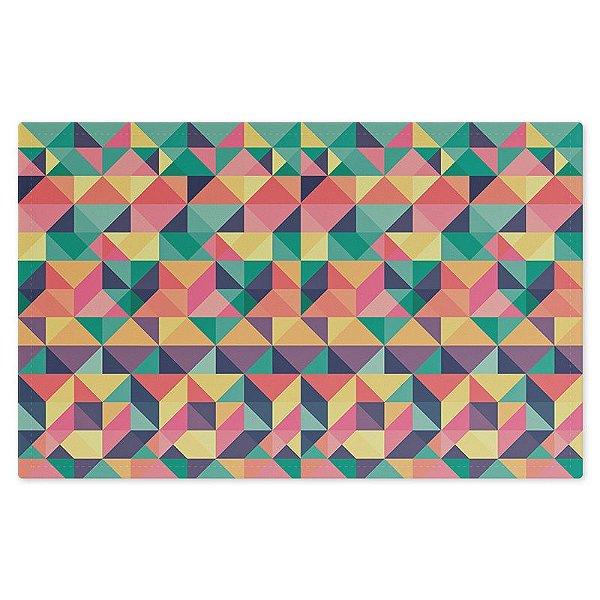 Jogo Americano (Kit 4 Unidades) Nerderia e Lojaria triangulos colorido