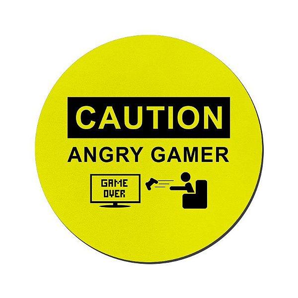 MOUSE PAD GAMER PEQUENO 20x24 cm Nerderia e Lojaria angry gamer colorido