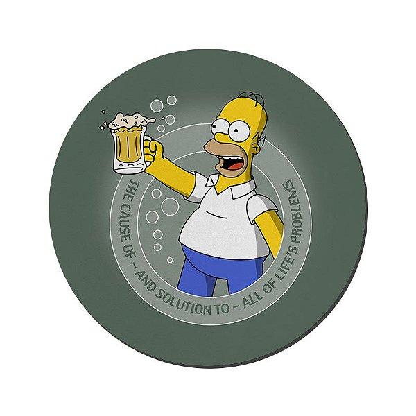 MOUSE PAD GAMER PEQUENO 20x24 cm Nerderia e Lojaria homer beer colorido