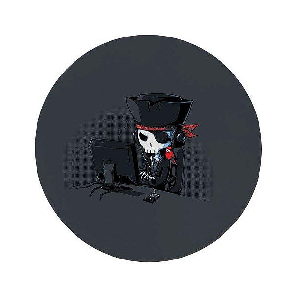 MOUSE PAD GAMER PEQUENO 20x24 cm Nerderia e Lojaria net=pirata colorido