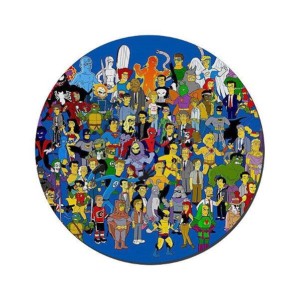 MOUSE PAD GAMER PEQUENO 20x24 cm Nerderia e Lojaria simpsons persona colorido