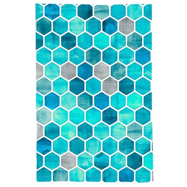 Pano De Prato Descorativo Nerderia e Lojaria azul geometrico colorido