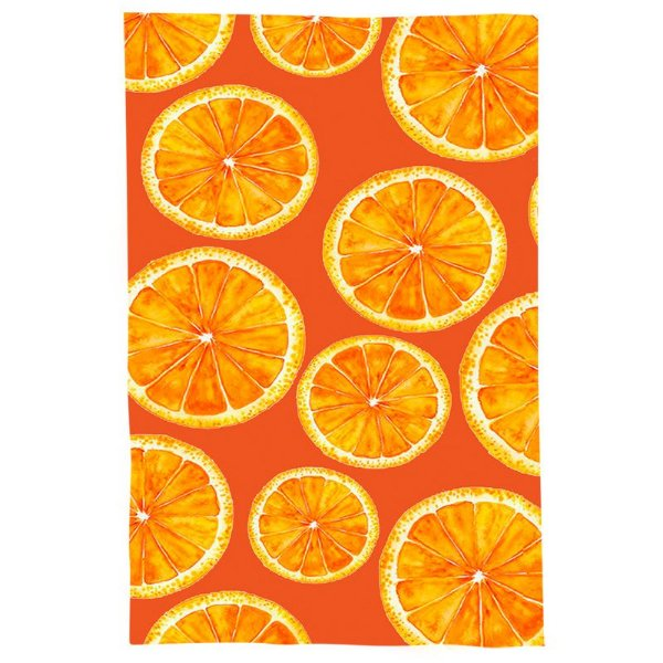 Pano De Prato Descorativo Nerderia e Lojaria laranjas colorido