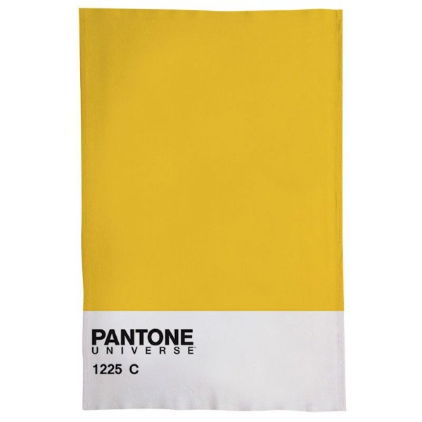 Pano De Prato Descorativo Nerderia e Lojaria pantone amarelo colorido